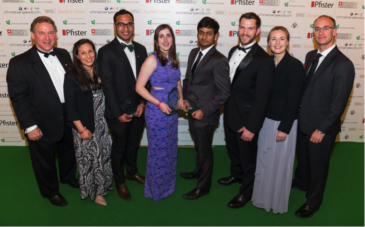 From left to right. Jim Deveau, GBF Founder; Rocio Perez Jimenez, VP GBF Leadership Awards; Rohit Gupta, GBF Leadership Awards Finalist 2016, CUHK, The Chinese University of Hong Kong; Abby Schwartz, GBF Responsible Leadership Award Winner 2016, Georgetown University McDonough School of Business; Vaibhav Agarwal and Jason Burchard, GBF Student Leadership Award Winners 2016, London School of Economics and Political Science; Wieteke Dupain, GBF CEO; Niall O'Hea, GBF Chairman